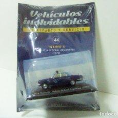 Coches a escala: IKA TORINO S POLICÍA FEDERAL ARGENTINA 1970 - SALVAT ESCALA 1:43 COCHE AUTO SERVICIO POLICE RENAULT. Lote 188753637