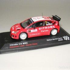Coches a escala: CITROËN C4 WRC - 76 RALLYE MONTECARLO 2008 - ALTAYA - CAJA EXPOSITOR ORIGINAL.. Lote 188775196