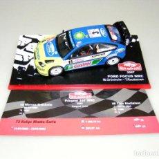 Coches a escala: PEUGEOT 307 WRC - 73 RALLYE MONTECARLO 2005 - ALTAYA - CAJA EXPOSITOR ORIGINAL.. Lote 188775250