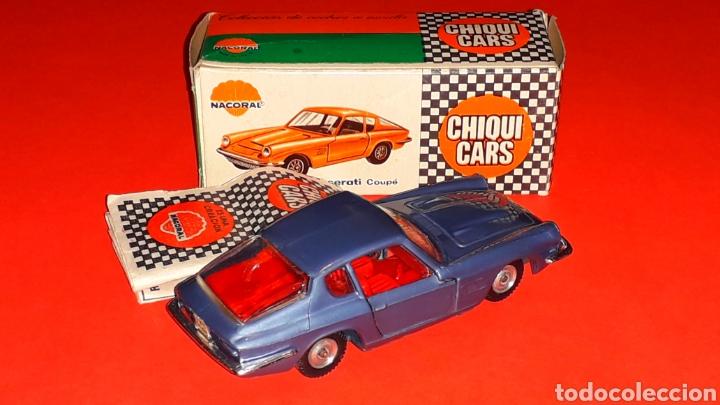 Coches a escala: Maserati 3.5 Mistral ref. 2011, 1/43 Nacoral Chiquicars Chiqui Cars Spain, original años 60. Caja. - Foto 5 - 190180716