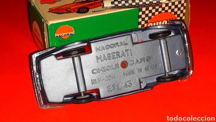 Coches a escala: Maserati 3.5 Mistral ref. 2011, 1/43 Nacoral Chiquicars Chiqui Cars Spain, original años 60. Caja. - Foto 8 - 190180716
