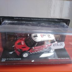 Coches a escala: 1/43 ,MINI JOHN COOPER WOKS WRC RALLY D´ITALIA SARDEGNA 2011, COLECCIÓN DE JAPÓN, ALTAYA.. Lote 191864405