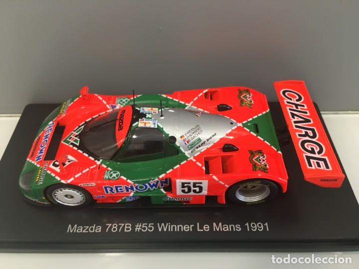 Coches a escala: Coche mazda 787b#55 winner le mans 1991. V.Widler- J. Herber- B. Gachot spark escala 1/43 - Foto 9 - 267031474