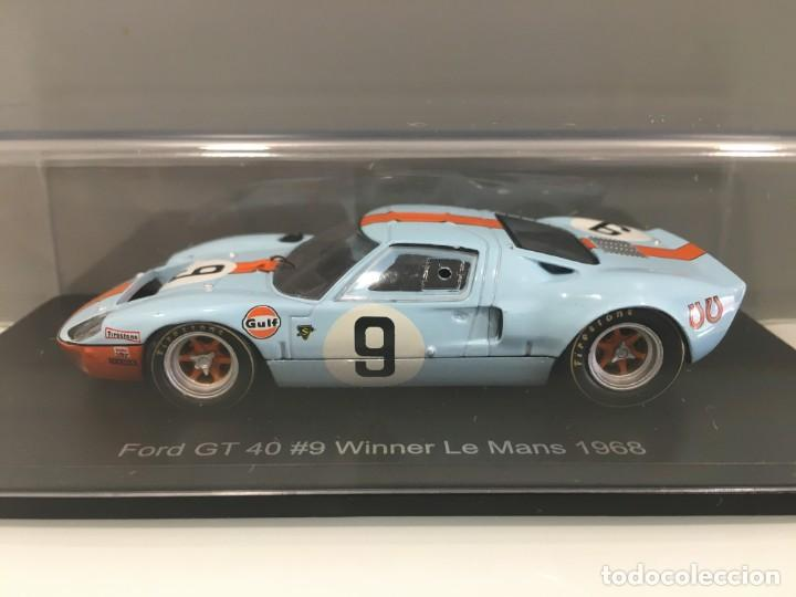 Coches a escala: Coche ford gt 40#9 Winner le mans 1968. P. Rodriguez- J. Gianchi. SPARK escala 1/43 - Foto 2 - 194216490