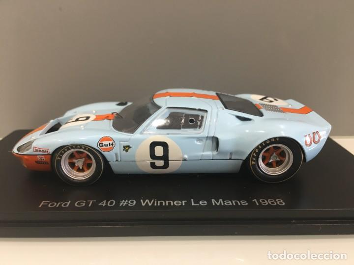Coches a escala: Coche ford gt 40#9 Winner le mans 1968. P. Rodriguez- J. Gianchi. SPARK escala 1/43 - Foto 3 - 194216490