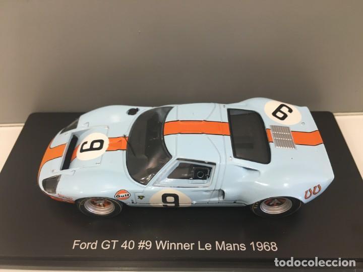 Coches a escala: Coche ford gt 40#9 Winner le mans 1968. P. Rodriguez- J. Gianchi. SPARK escala 1/43 - Foto 9 - 194216490
