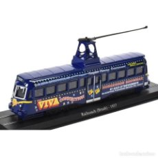 Coches a escala: TRAM RAILCOACH BRUSH 1937 BLACKPOOL IXO ATLAS DIECAST 1:76. Lote 194303425