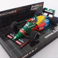 Coches a escala: MINICHAMPS 1:43 - BENETTON FORD B188 M. HAKKINEN FIRST F1 TEST - SILVERSTONE JAN 1990 ART 400890219. Lote 194399900