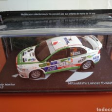 Coches a escala: MITSUBISHI LANCER EVOLUTION X DEL RALLY DE MEXICO 2012. Lote 243075905