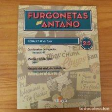 Coches a escala: FURGONETAS DE ANTAÑO FASCICULO 25 RENAULT 4F DE SPAR. ALTAYA. Lote 194982141