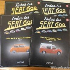 Coches a escala: LOTE 8 FASCICULOS TODOS LOS SEAT 600 SALVAT. TAMBIEN SUELTOS.. Lote 194982186