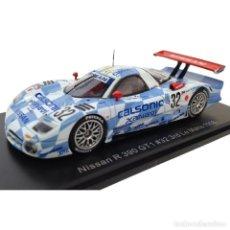 Coches a escala: SPARK NISSAN R 390 GT1 1998 SUZUKI HOSHINO 24 HORAS LE MANS 1:43 DIECAST. Lote 195046346