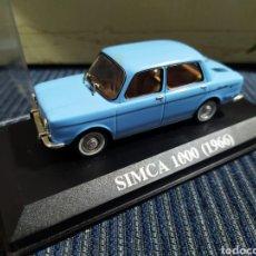Coches a escala: SIMCA 1000 1966 ALTAYA COMPLETO CON URNA TRANSPARENTE. Lote 195053282