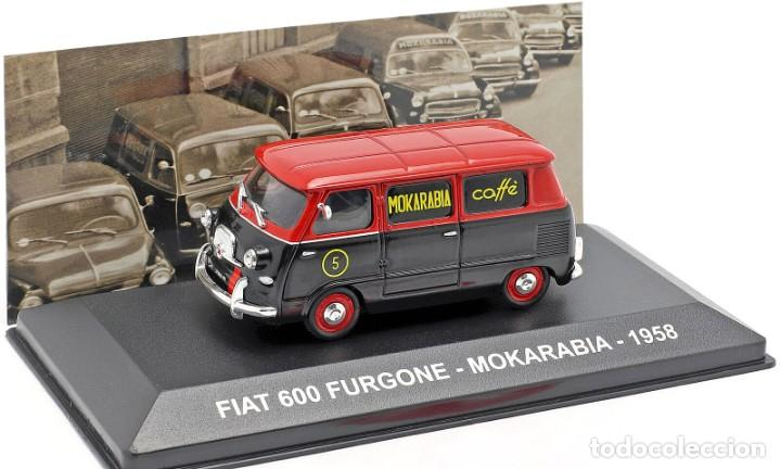 COCHE E 1:43. FIAT 600 FURGONE, MOKARABIA 1958 (Juguetes - Coches a Escala 1:43 Otras Marcas)