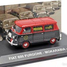 Coches a escala: COCHE E: 1:43. FIAT 600 FURGONE, MOKARABIA 1958. Lote 195058348