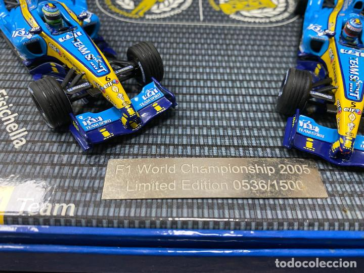 Coches a escala: RENAULT F1 TEAM Pack R25 World Championship FERNANDO ALONSO 2005 Limited edition - Foto 3 - 195210167