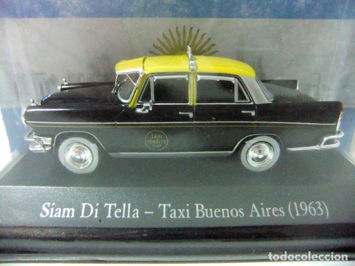 Coches a escala: SIAM DI TELLA 1500 TAXI DE BUENOS AIRES 1963 - SALVAT ARGENTINA ESCALA 1:43 COCHE AUTO 1065/13 GCBA - Foto 2 - 195328308