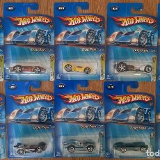 Coches a escala: LOTE 10 COCHES HOT WHEELS AÑO 2005 SERIE DROP TOPS COMPLETA 10/10. Lote 195403372