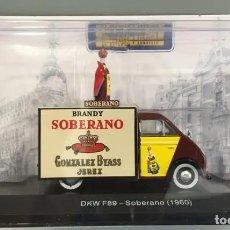 Coches a escala: DKW 1960 SOBERANO - IXO SALVAT BRANDY LICOR JÉREZ FURGONETA VEHÍCULO REPARTO SERVICIO ALTAYA. Lote 195437710