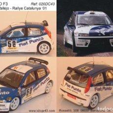 Coches a escala: [CALCA] FIAT PUNTO F3 #58 S. VALLEJO RALLY CATALUNYA 2001 (REF. 020DECA43) 1:43 KIT CAR 43. Lote 199094090