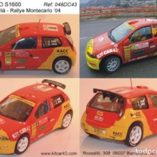 Coches a escala: [CALCA] FIAT PUNTO S1600 #46 X. PONS RALLY MONTE CARLO 2004 (REF. 048DECA43) 1:43 KIT CAR 43. Lote 199094091