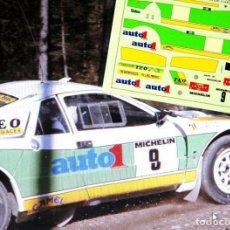 Coches a escala: [CALCA] LANCIA 037 #9 T. MARTIN RALLY RACE TIERRA CARDONA 1986 (REF. 213DECA43) 1:43 KIT CAR 43. Lote 199094175