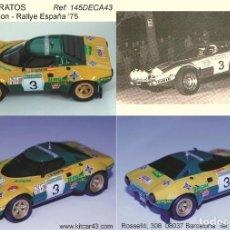 Coches a escala: [CALCA] LANCIA STRATOS #3 J. DE BAGRATION RALLY ESPAÑA 1975 (REF. 145DECA43) 1:43 KIT CAR 43. Lote 199094233