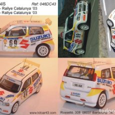 Coches a escala: [CALCA] SUZUKI IGNIS S1600 #69 S. CAÑELLAS RALLY CATALUNYA 2003 (REF. 046ADECA43) 1:43 KIT CAR 43. Lote 199094508