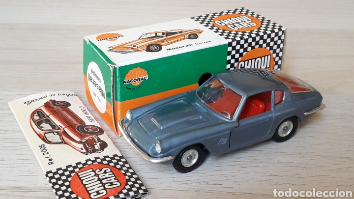 Coches a escala: Lamborghini 3.5 Mistral ref. 2011, esc. 1/43, Nacoral Chiquicars Chiqui Cars, original años 60. Caja - Foto 2 - 199175858
