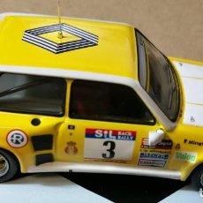 Coches a escala: RENAULT 5 MAXI TURBO RALLYE RACE 1983 ESCALA 1:43 DE ALTAYA GENITO ORTIZ RAMON MIGUEZ EN SU CAJA. Lote 199552661
