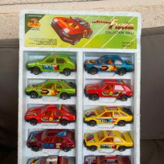Coches a escala: GUISVAL SET 12 COCHES RALLY 1/43 FORD SIERRA SEAT RONDA MERCEDES 500 BMW 323. Lote 199925335