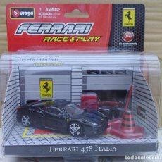 Coches a escala: FERRARI 458 ITALIA BURAGO RACE PLAY EN SU BLISTER ORIGINAL SIN ABRIR. Lote 200238196