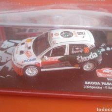 Coches a escala: SKODA FABIA WRC RALLY DE MONTECARLO 2007, ALTAYA, ESCALA 1/43, NUEVO.. Lote 202667997