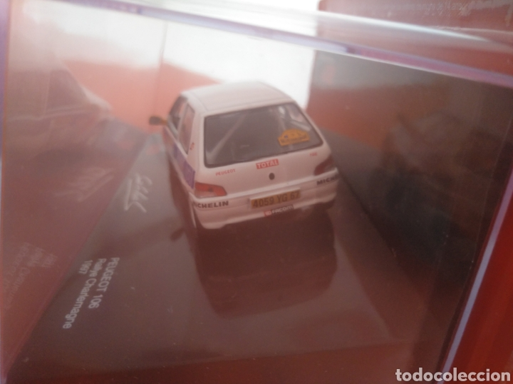 Coches a escala: PEUGEOT 106, RALLYE CHARLEMAGNE 1997, LOEB COLECTION,, ALTAYA, ESCALA 1/43, NUEVO. - Foto 2 - 202668865