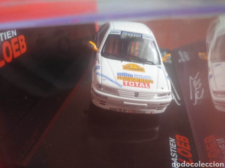 Coches a escala: PEUGEOT 106, RALLYE CHARLEMAGNE 1997, LOEB COLECTION,, ALTAYA, ESCALA 1/43, NUEVO. - Foto 3 - 202668865