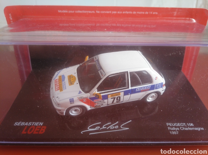 Coches a escala: PEUGEOT 106, RALLYE CHARLEMAGNE 1997, LOEB COLECTION,, ALTAYA, ESCALA 1/43, NUEVO. - Foto 1 - 202668865