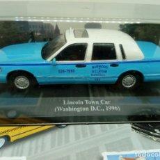 Coches a escala: ALTAYA TAXI LINCOLN TOWN CAR WASHINGTON D.C.,1996+ FOLLETO. Lote 203045817