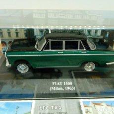 Coches a escala: ALTAYA TAXI FIAT 1500 MILAN,1963+ FOLLETO. Lote 203047427