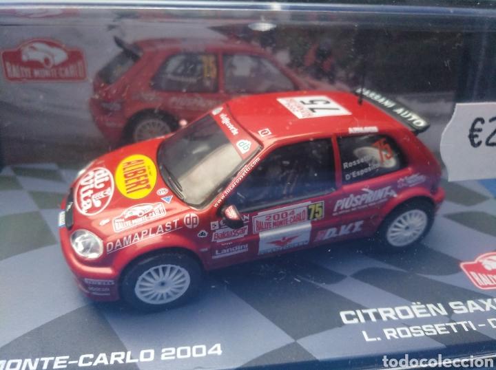 CITROEN SAXO S1600 DEL RALLY MONTE CARLO 2004, COLECCIÓN MONTE CARLO DE ITALIA, 1/43, NUEVO (Juguetes - Coches a Escala 1:43 Otras Marcas)