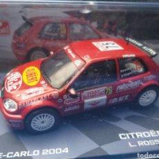 Coches a escala: CITROEN SAXO S1600 DEL RALLY MONTE CARLO 2004, COLECCIÓN MONTE CARLO DE ITALIA, 1/43, NUEVO. Lote 204273705