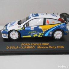 Coches a escala: 3586 COCHE IXO RALLY CAR FORD FOCUS WRC SOLA AMIGO RALLY MEXICO 2005 MODEL 1:43. Lote 205037828