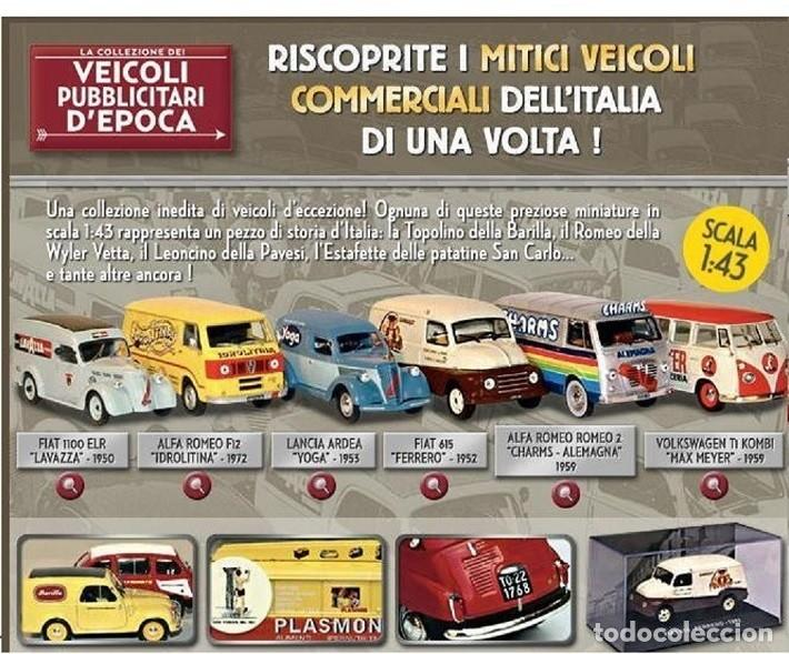 Fiat 850 T Mensajeria italiana 1965 furgoneta 1:43 Diecast Coche Atlas