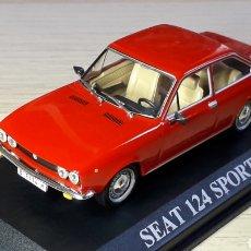 Carros em escala: SEAT 124 SPORT 1600, METAL ESC. 1/43, IXO ALTAYA, VERSIÓN 1971. CON CAJA.. Lote 209167648