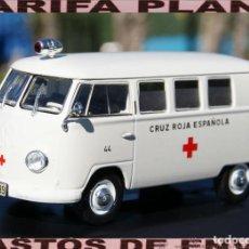 Coches a escala: VW T1 CRUZ ROJA ESPAÑOLA 1956 ESCALA 1:43 DE SALVAT EN CAJA NO ORIGINAL. Lote 209949330