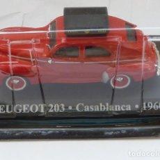 Coches a escala: COCHE PEUGEOT 203 DE CASABLANCA DE 1960, COLECCION TAXIS DEL MUNDO ALTAYA 2001. Lote 211615102