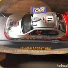Coches a escala: HYUNDAI ACCENT WRC - F. LOIX - S.SMEETS-1/43 - RALLY MONTE CARLO 2003. Lote 211972422