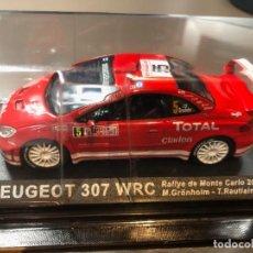 Coches a escala: PEUGEOT 307 WRC - M. GRÖNHOLM - T. RAUTIAINEN - 1/43 - RALLY MONTE CARLO 2004. Lote 211975930