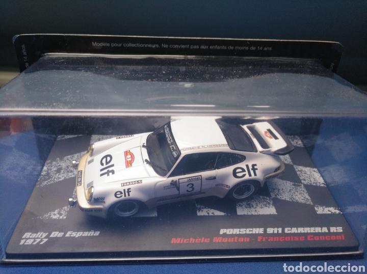 PORSCHE 911 CARRERA RS, RALLY DE ESPAÑA 1977, COLECCION ESPAÑOLA VENCEDORES DE RALLY, ALTAYA, 1/43 (Juguetes - Coches a Escala 1:43 Otras Marcas)
