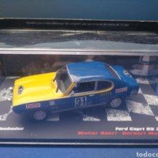 Coches a escala: FORD CAPRI RS 2600, RALLY WIESBADEN 1971, COLECCION ESPAÑOLA VENCEDORES DE RALLY, ALTAYA, 1/43. Lote 212387811