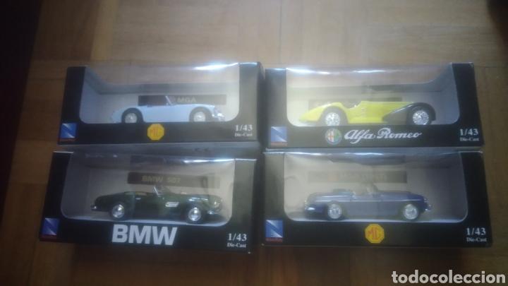 NEW RAY. COLECCION CLASICOS. MGA, BMW 507, ALFA ROMEO DE 1938 Y MGB DE 1967. A ESTRENAR VER FOTOS (Juguetes - Coches a Escala 1:43 Otras Marcas)